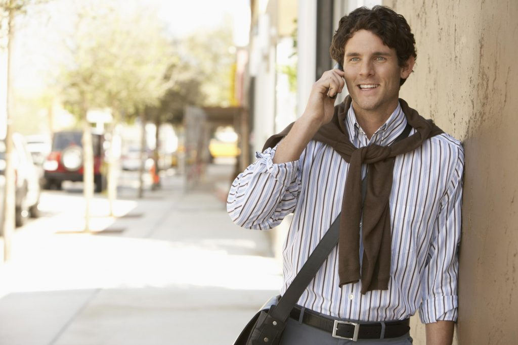 man is on phone call