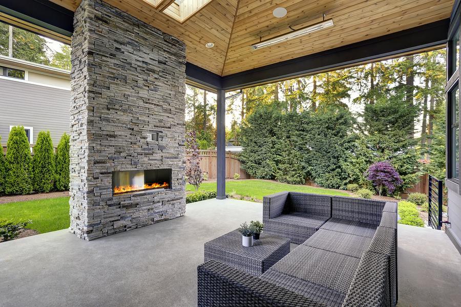 concrete outdoor of patio