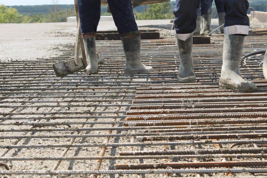 placing the metal slabs