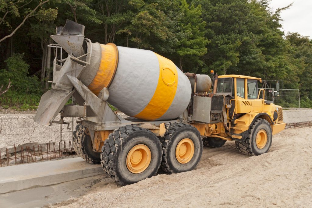 pouring out a cement